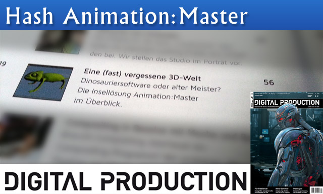 Hash Animation:Master Artikel in der Digital Production Juni/Juli 2015 (04/15)