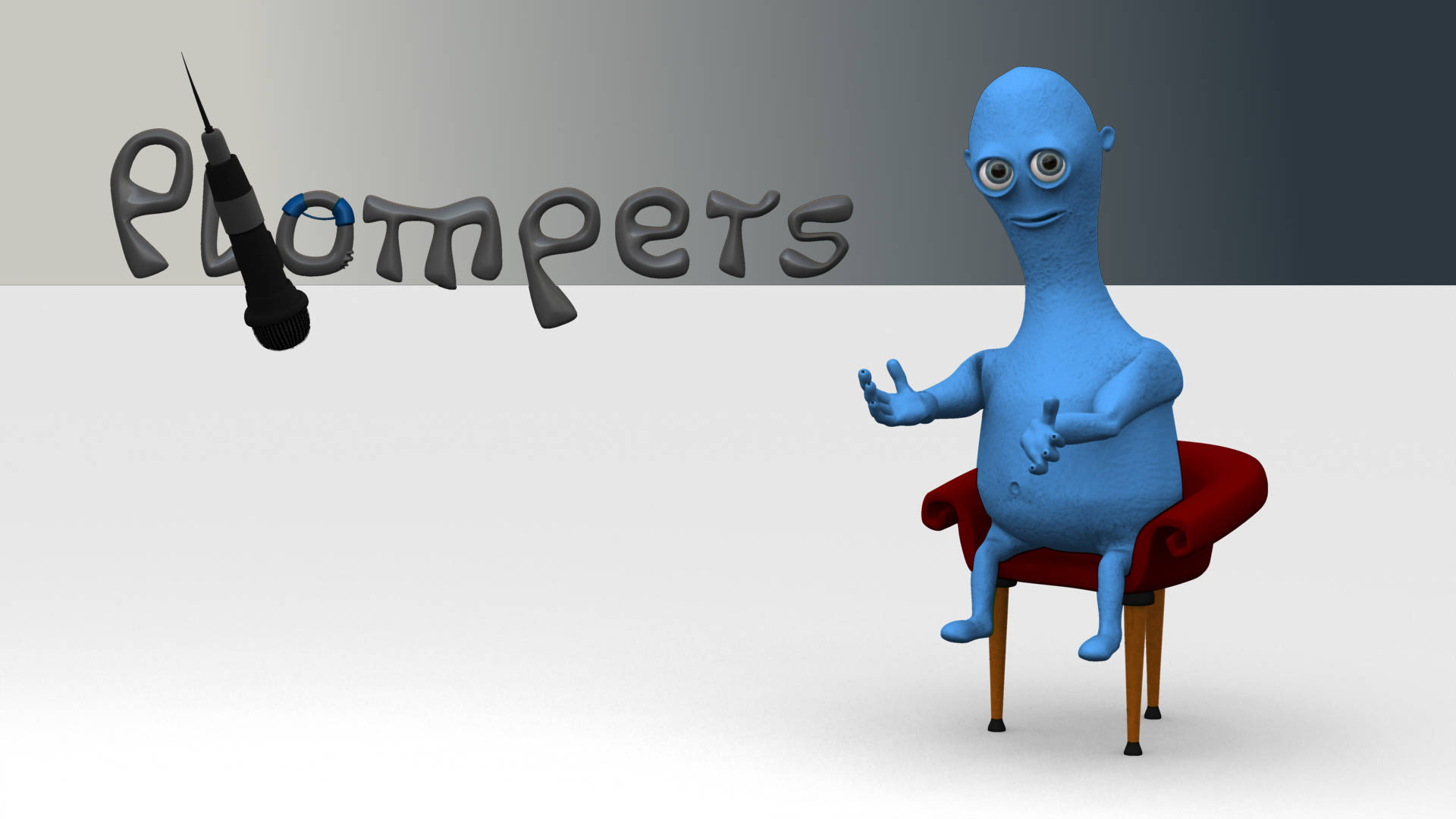 Animation:Master Plompers, kleines blaues Monster