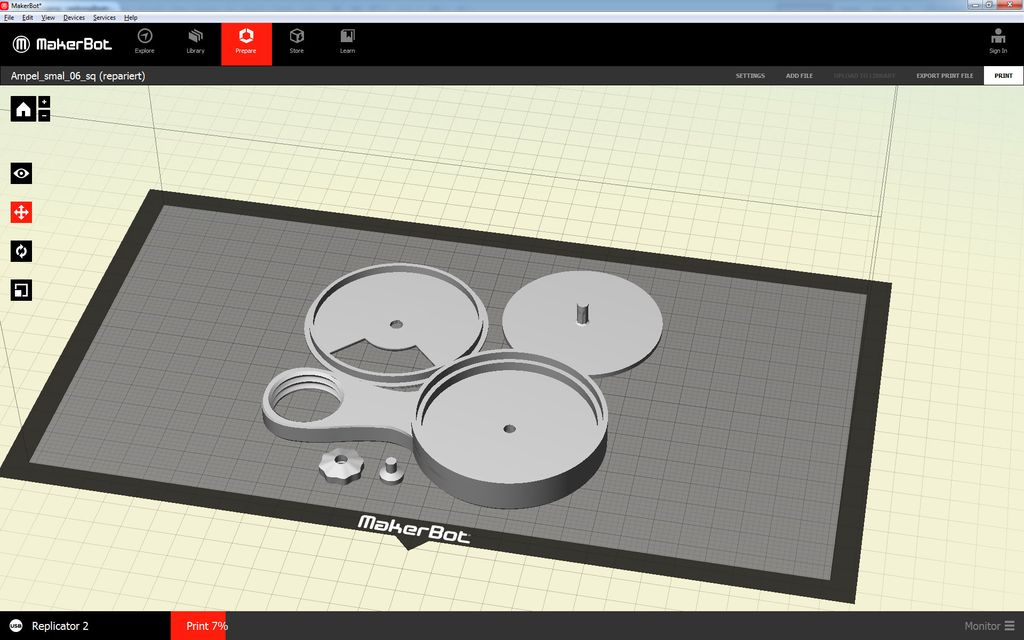 Screenshot MakerBot Door traffic light
