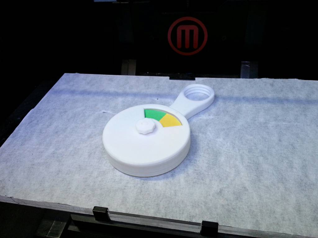 PatchWork3d: Door traffic light assembled. Printed with Makerbot Replicator 2