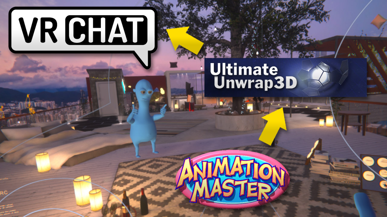 How to get from Animation:Master to VRChat using UltimateUnwrap3d