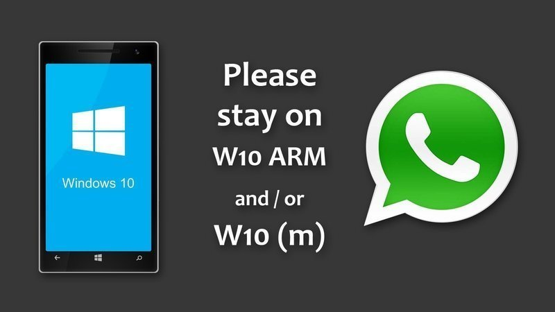 Whatsapp on W10: Please stay