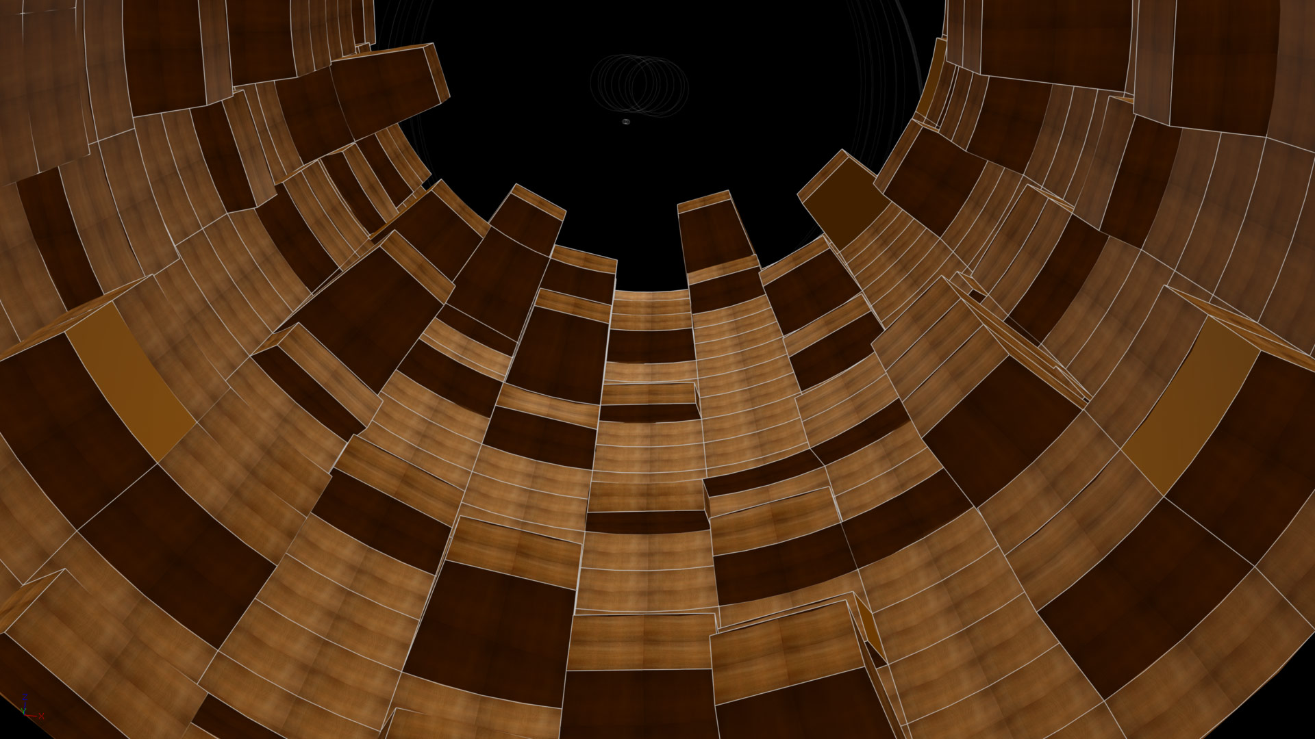 Wood tunnel Wireframe at PatchWork3d